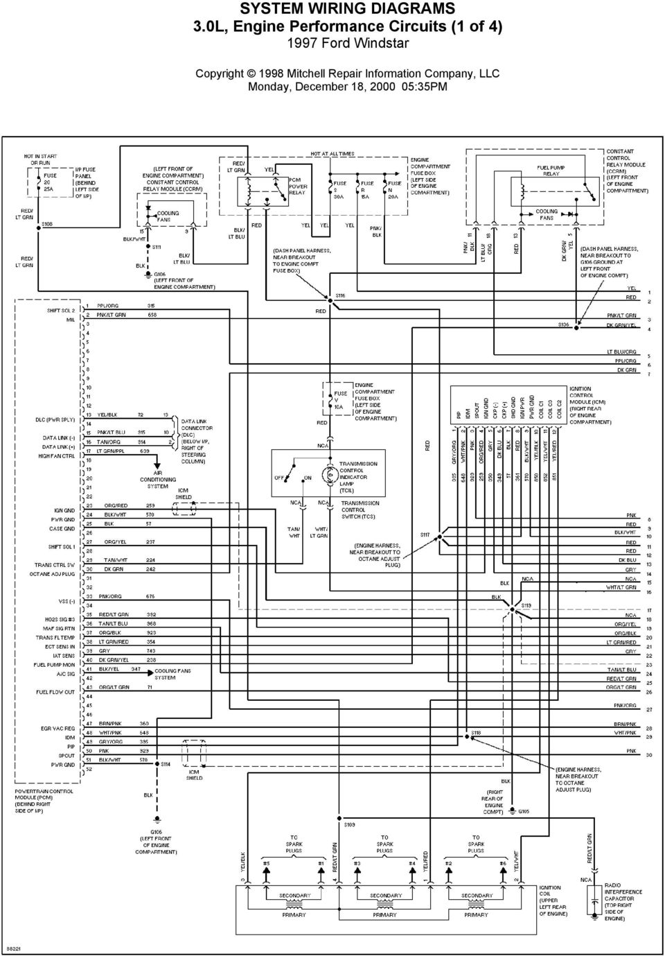 System Wiring Diagrams Air Conditioning Circuits 1997 Ford Windstar 05 Grand Cherokee Abs Diagram 1 Of 4