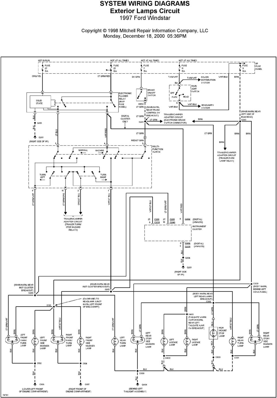 System Wiring Diagrams Air Conditioning Circuits 1997 Ford Windstar Expedition Electrical Circuit And Diagram 20 Trailer Camper Adapter Monday December 18 36pm
