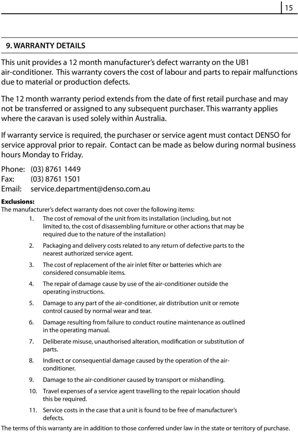 Ub1 air conditioning unit operating manual pdf the 12 month warranty period extends from the date of first retail purchase and may not publicscrutiny Images