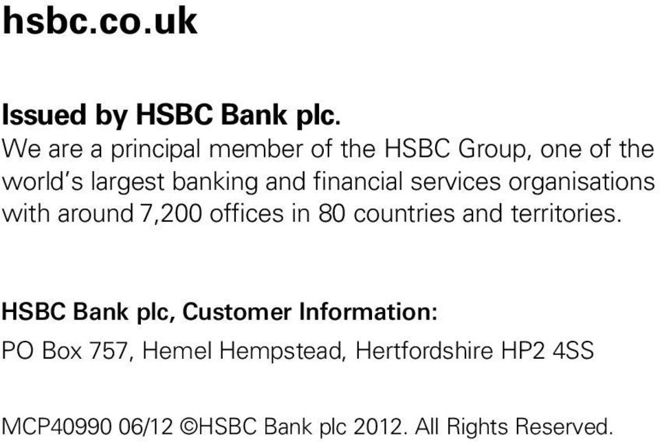 HSBC Life (UK) Limited Statement of Principles and Practices for