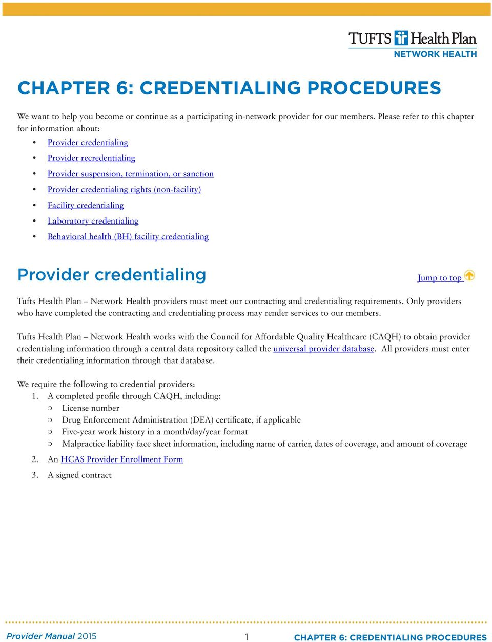 Chapter 6 Credentialing Procedures Pdf