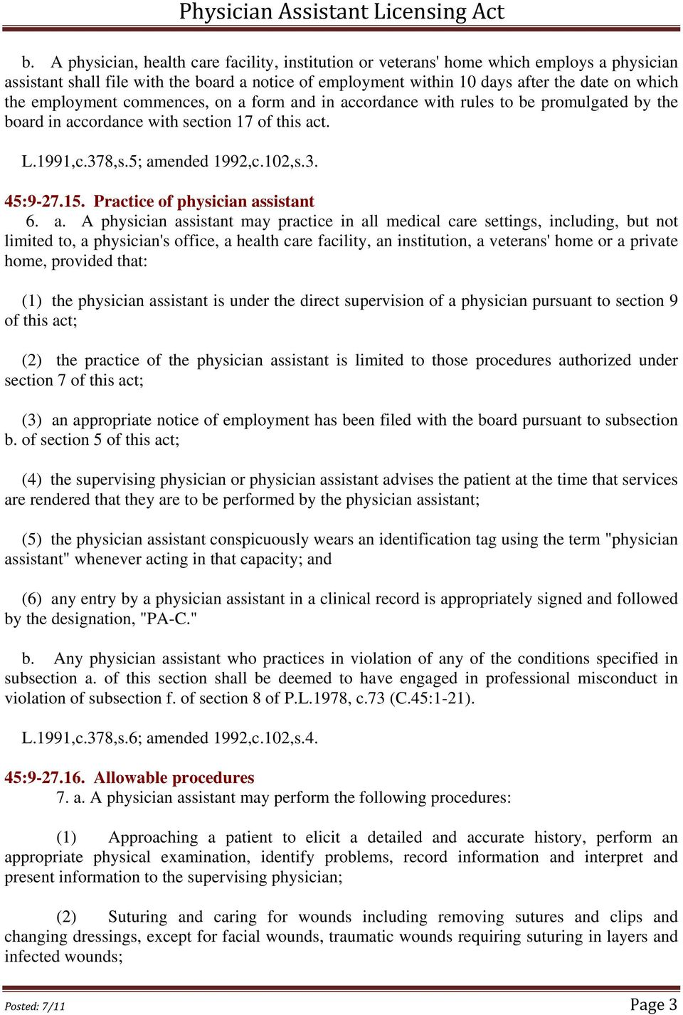 Practice of physician as