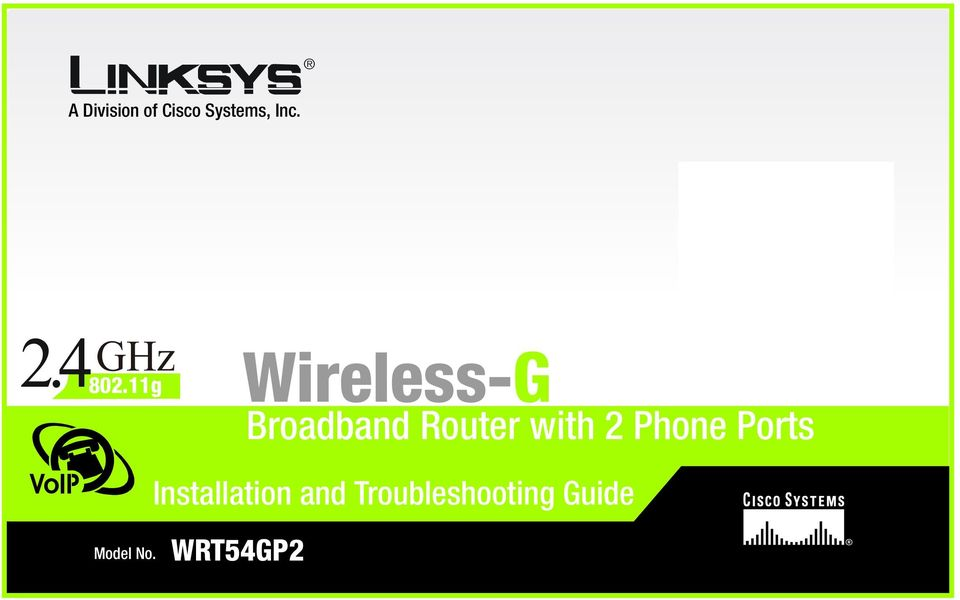 11g VoIP Wireless-G Broadband Router
