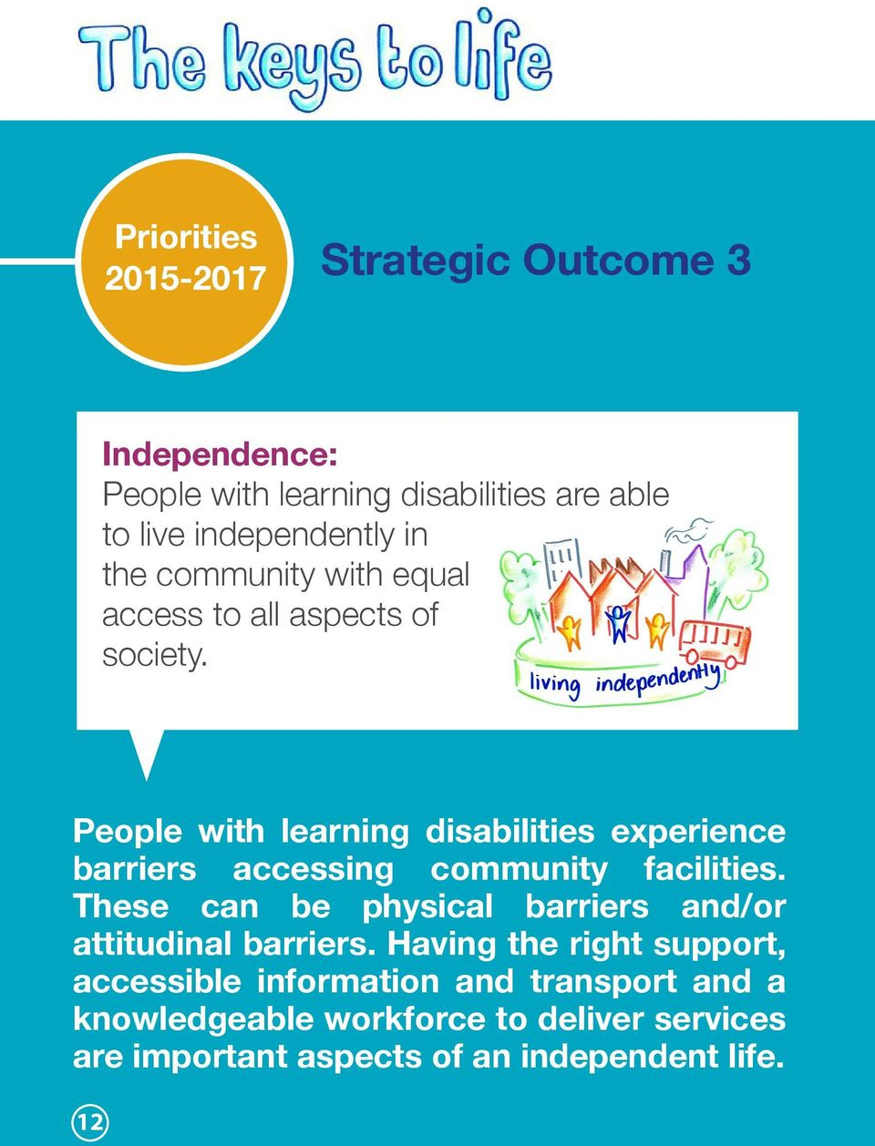People with learning disabilities experience barriers accessing community facilities.