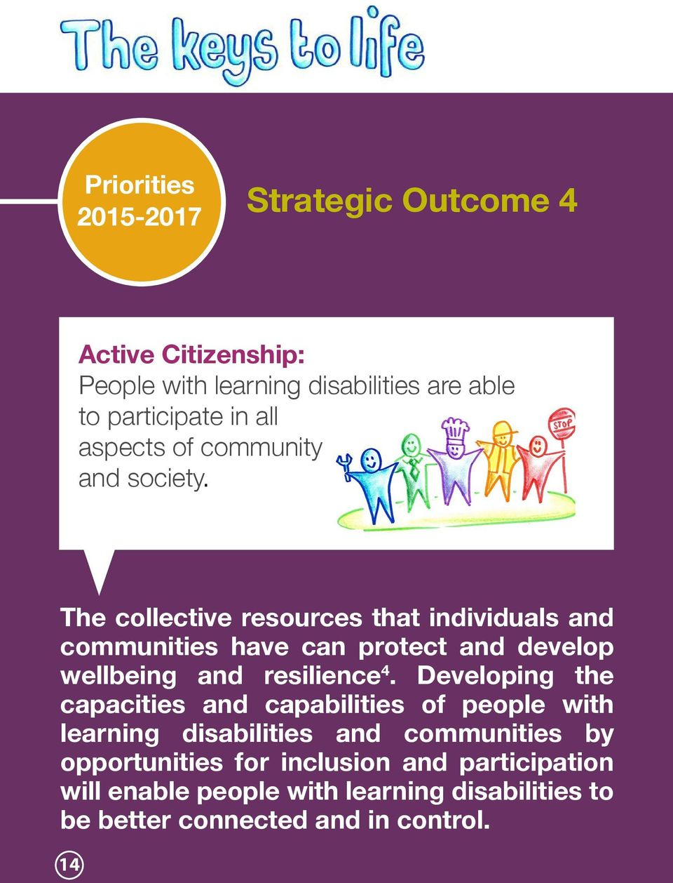 The collective resources that individuals and communities have can protect and develop wellbeing and resilience 4.
