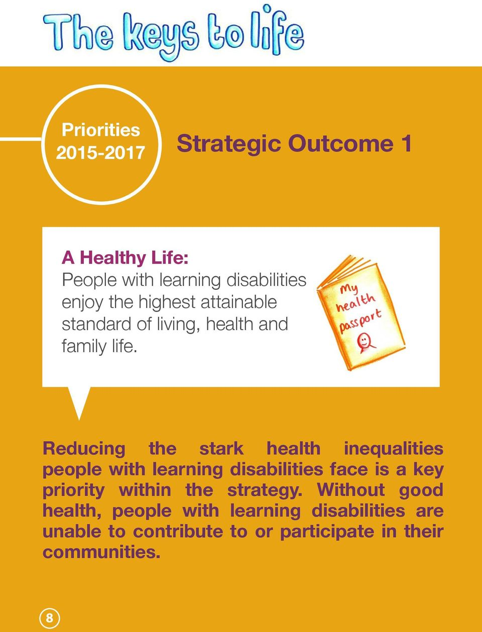 Reducing the stark health inequalities people with learning disabilities face is a key priority