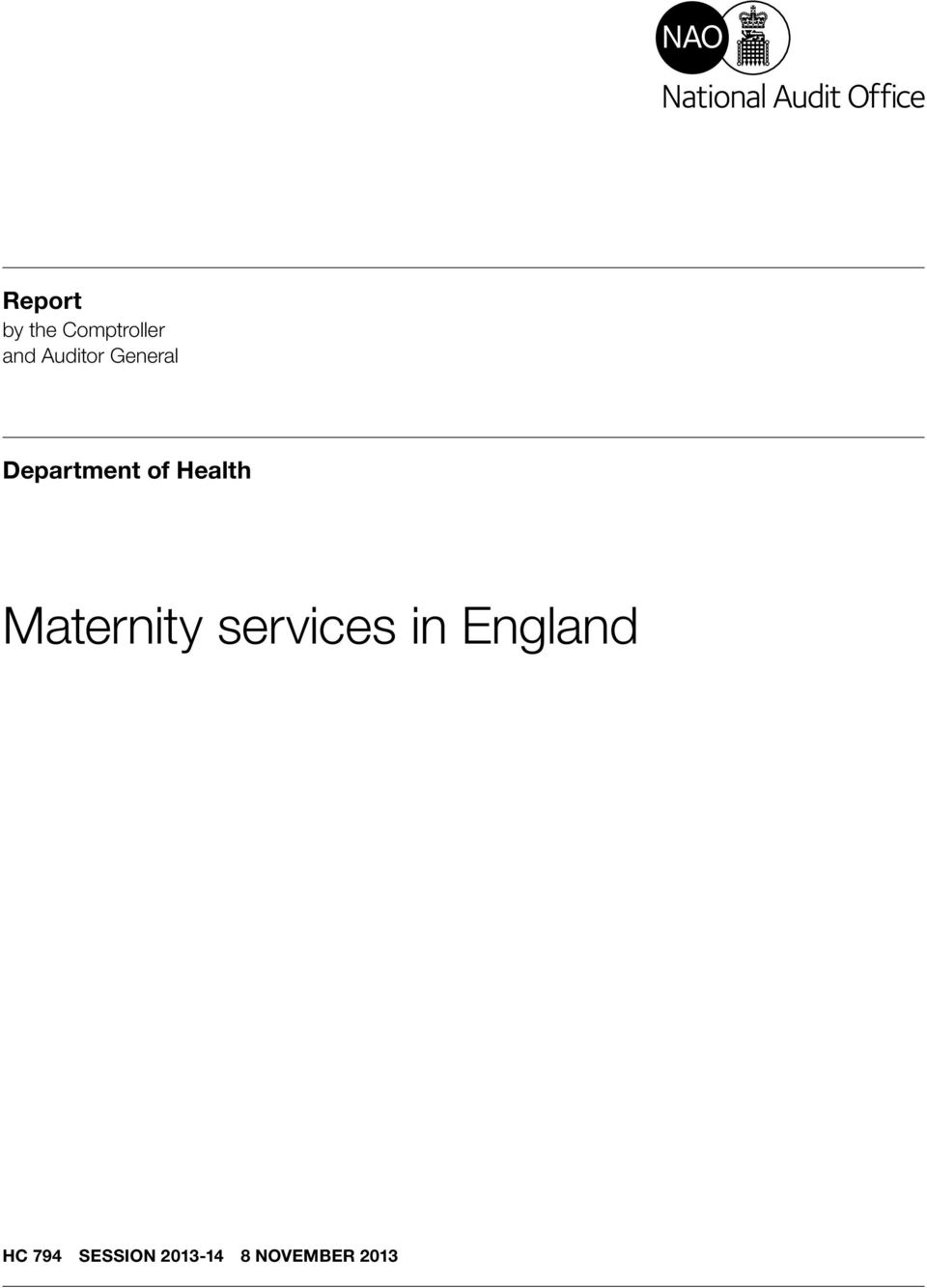 Health Maternity services in