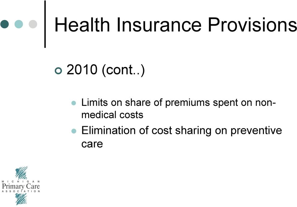 .) Limits on share of premiums