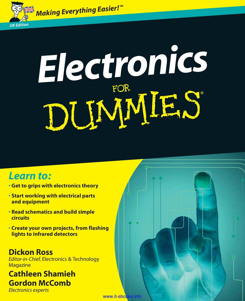 Electronics Learn To Dickon Ross Cathleen Shamieh Gordon Mccomb Simple Electronic Circuit Design Projects Electrical Parts And Equipment Read Schematics Build Circuits Create Your Own