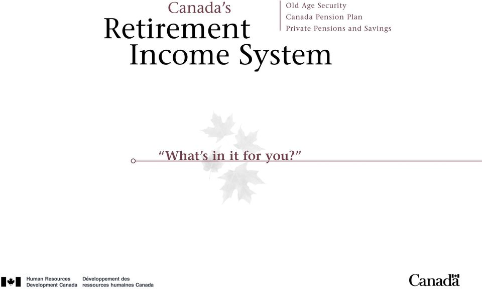 Pension Plan Private Pensions