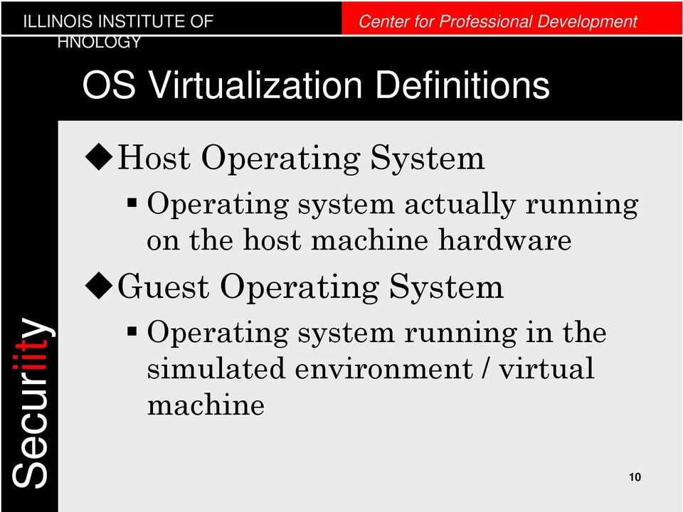machine hardware Guest Operating System Operating