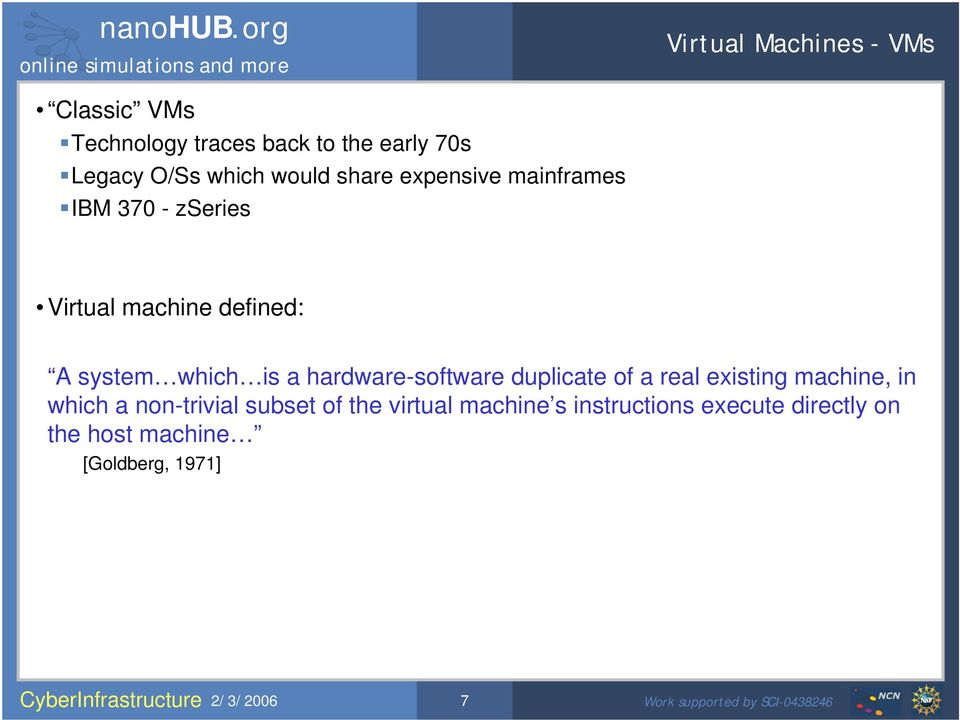 a hardware-software duplicate of a real existing machine, in which a non-trivial subset of the