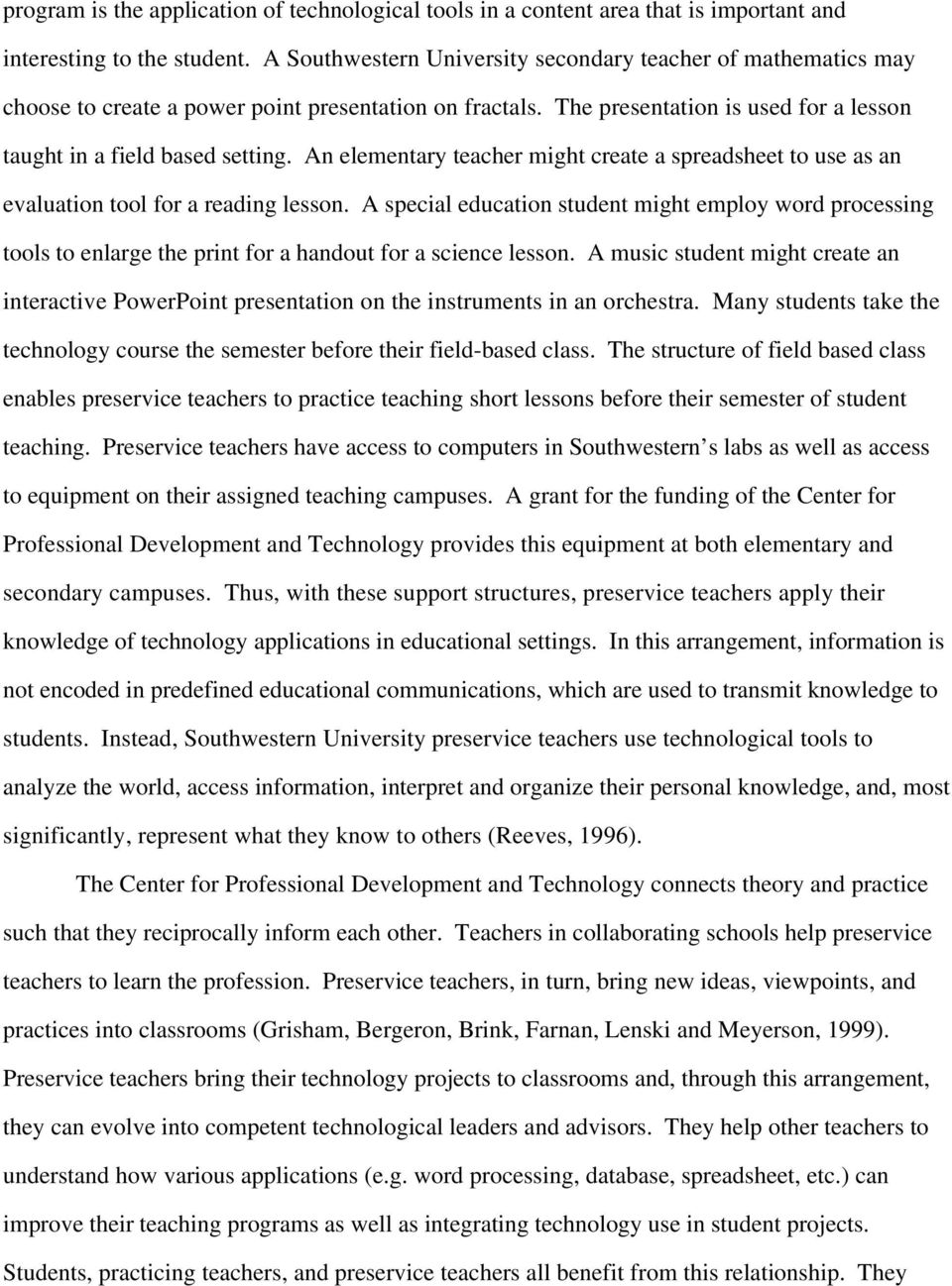 The Integration of Technology In Teacher Education - PDF