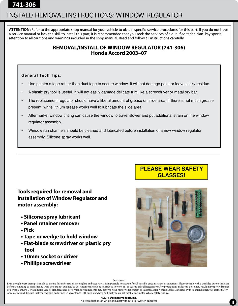 Install Removal Instructions Window Regulator Pdf 2007 Honda Crv Trailer Wiring Harness If There Is Not Much Grease Present White Lithium Works Well To Lubricate The