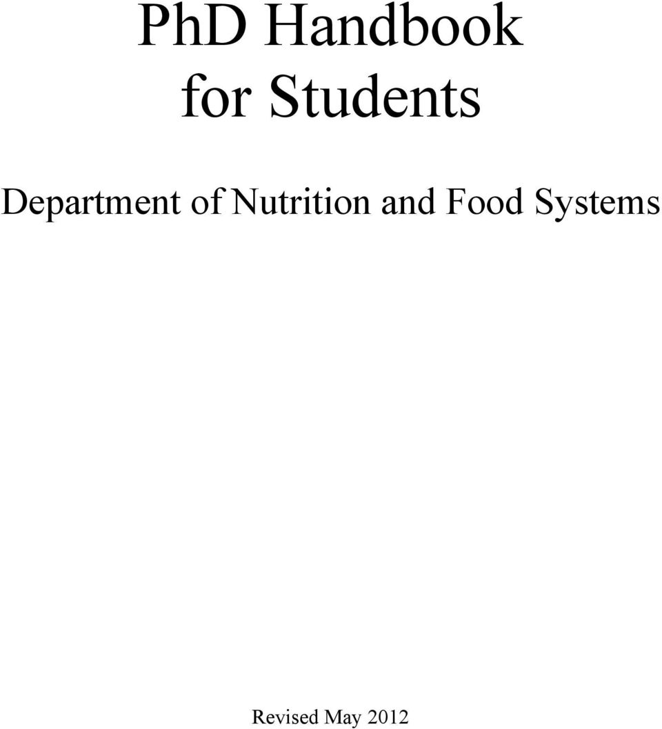 of Nutrition and