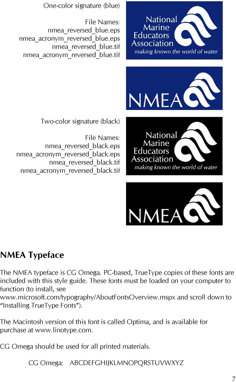 General Rules for Usage of NMEA logo - PDF
