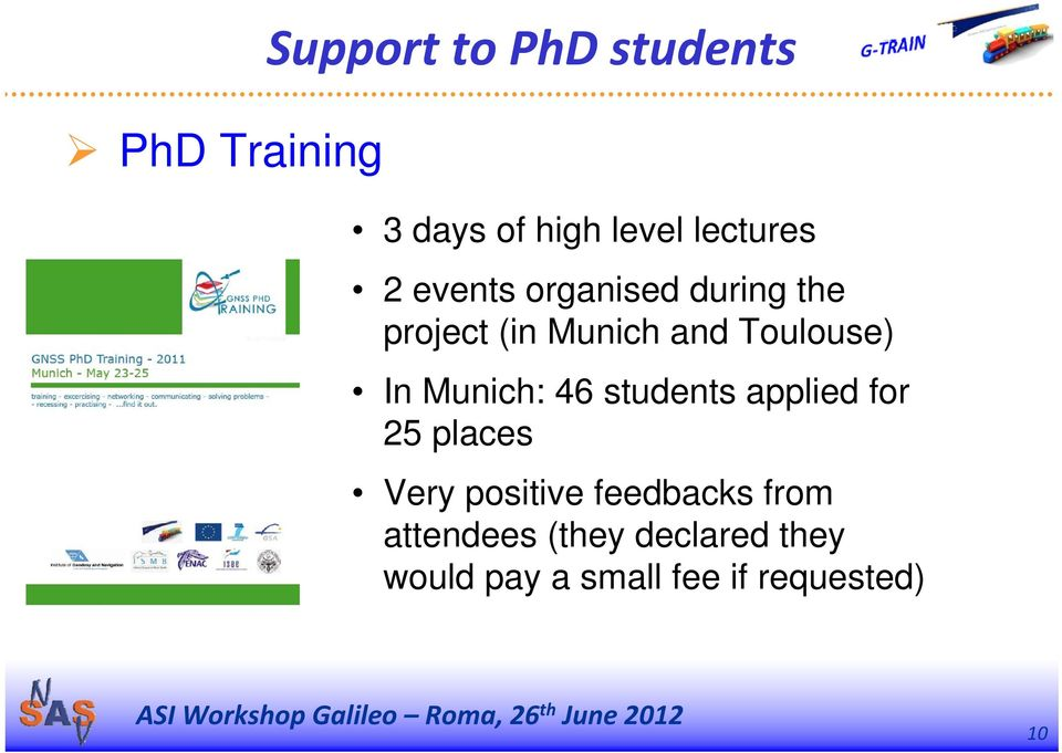 Munich: 46 students applied for 25 places Very positive feedbacks