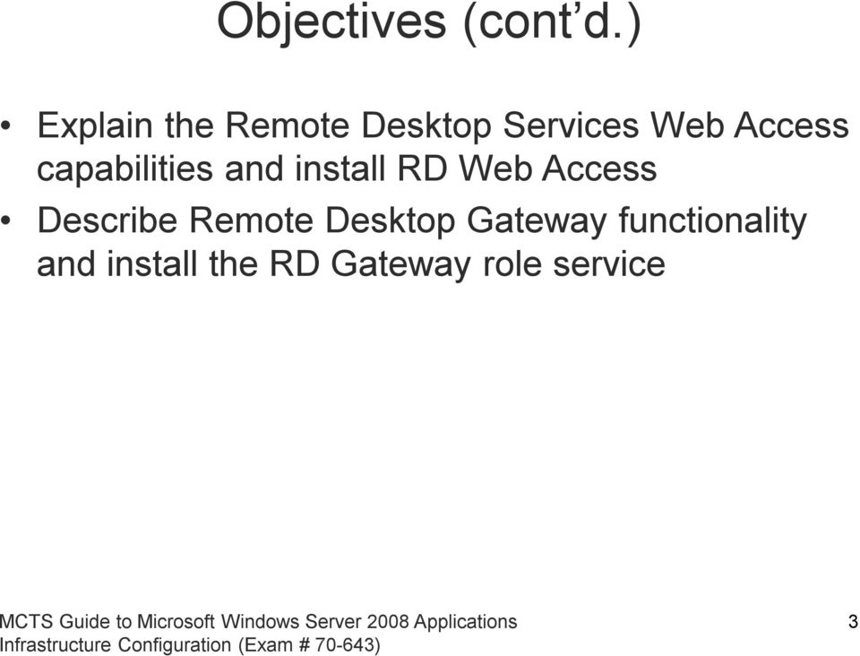 capabilities and install RD Web Access Describe