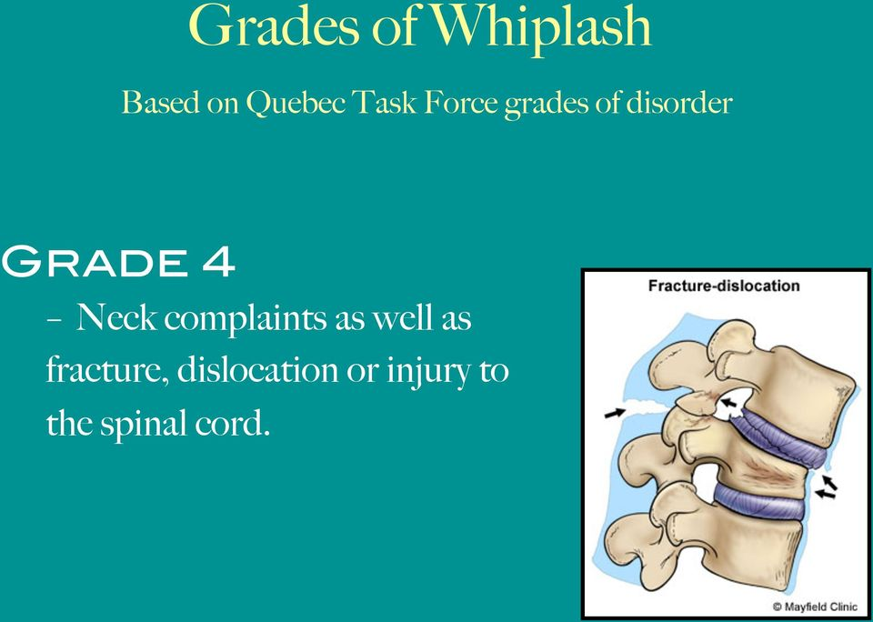 Neck complaints as well as fracture,