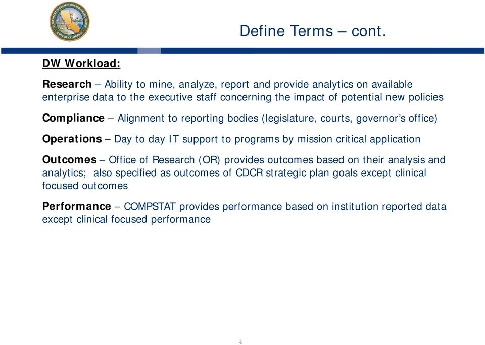 CDCR EA Data Warehouse / Strategy Overview  February 12, PDF