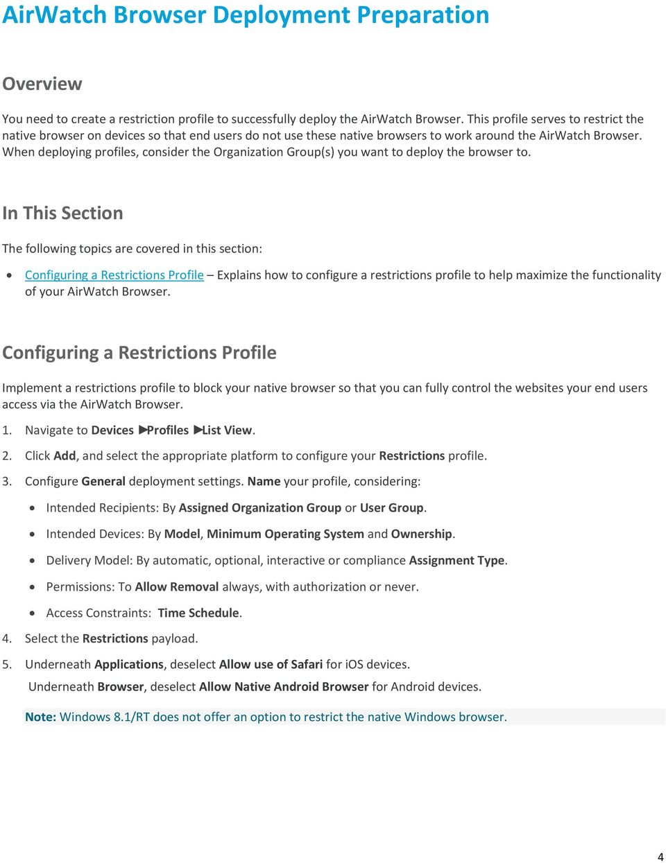 Introduction to the AirWatch Browser Guide - PDF