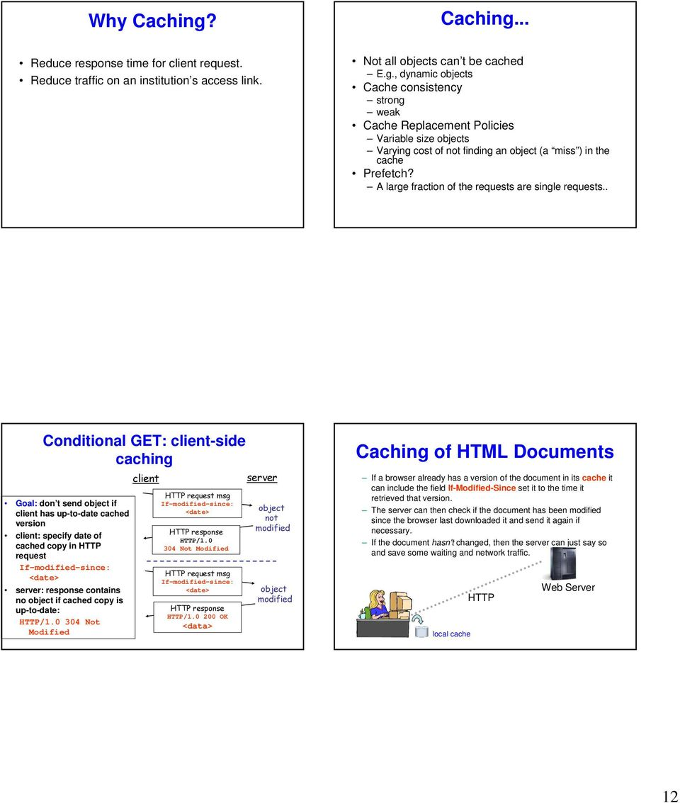 Protocolo HTTP  Web and HTTP  HTTP overview  HTTP overview - PDF