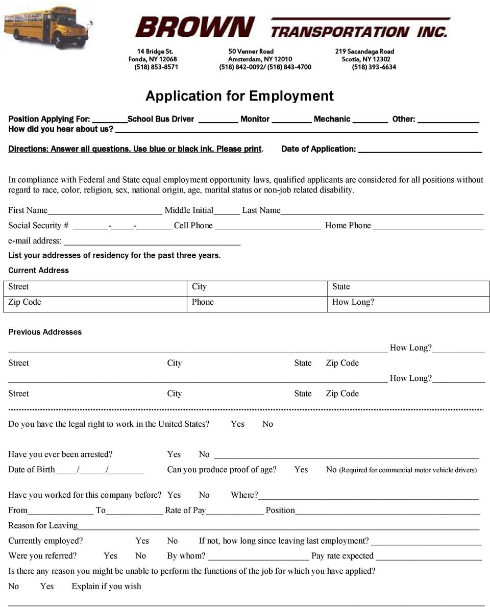 application for employment pdf