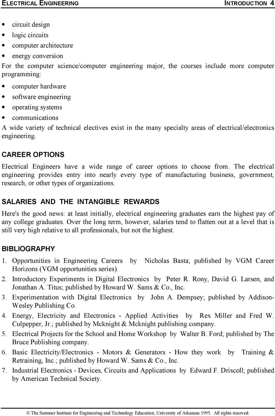Introduction To Electrical Engineering Pdf Circuit Design Career Options Engineers Have A Wide Range Of Choose From
