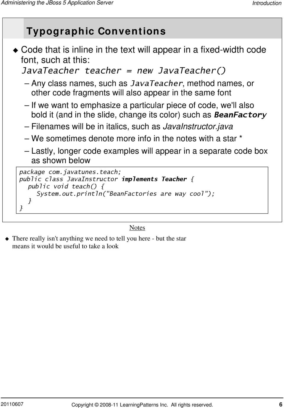Table of Contents JBoss AS 5 Administration - PDF