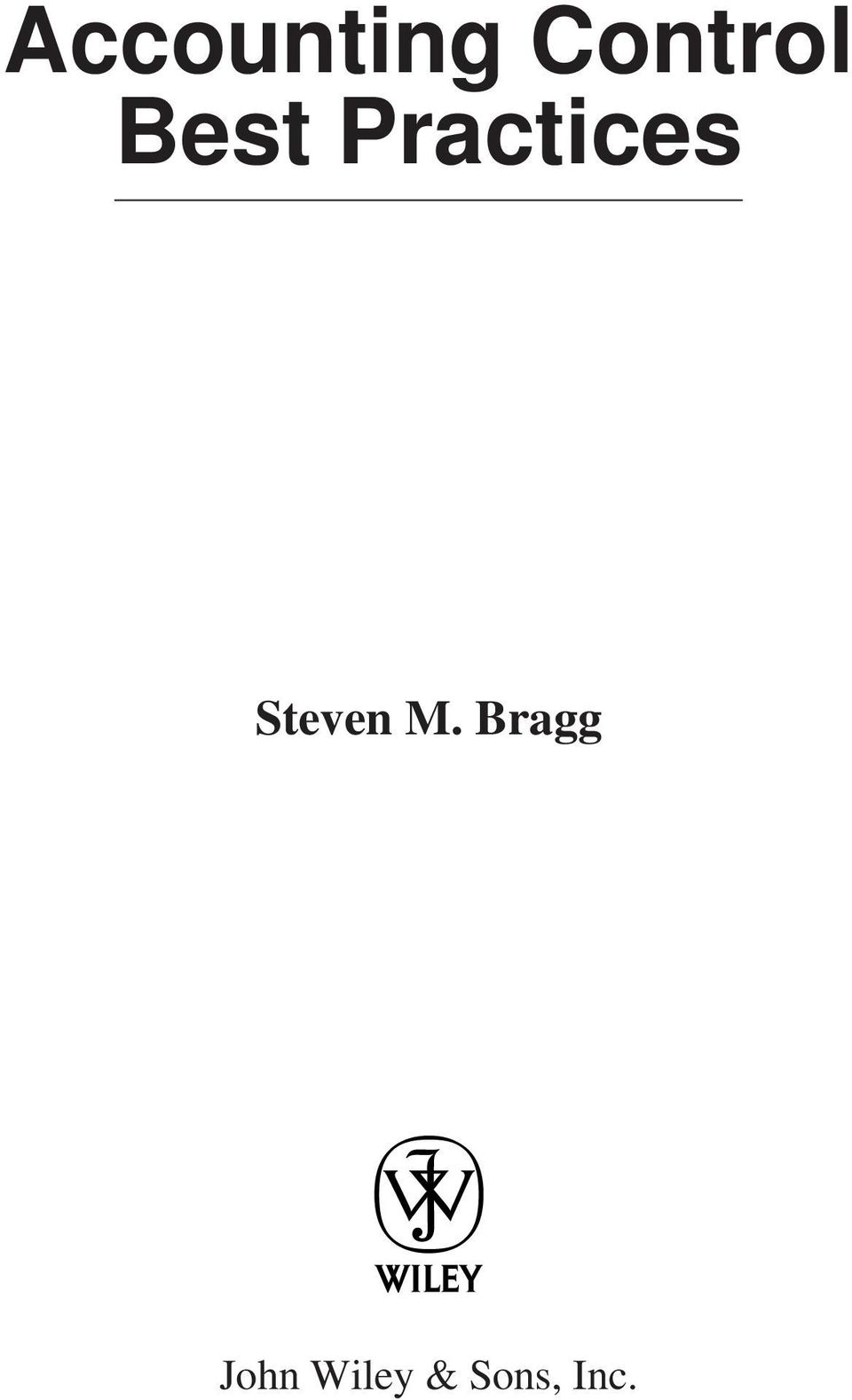 Inventory Best Practices Steven M Bragg Pdf