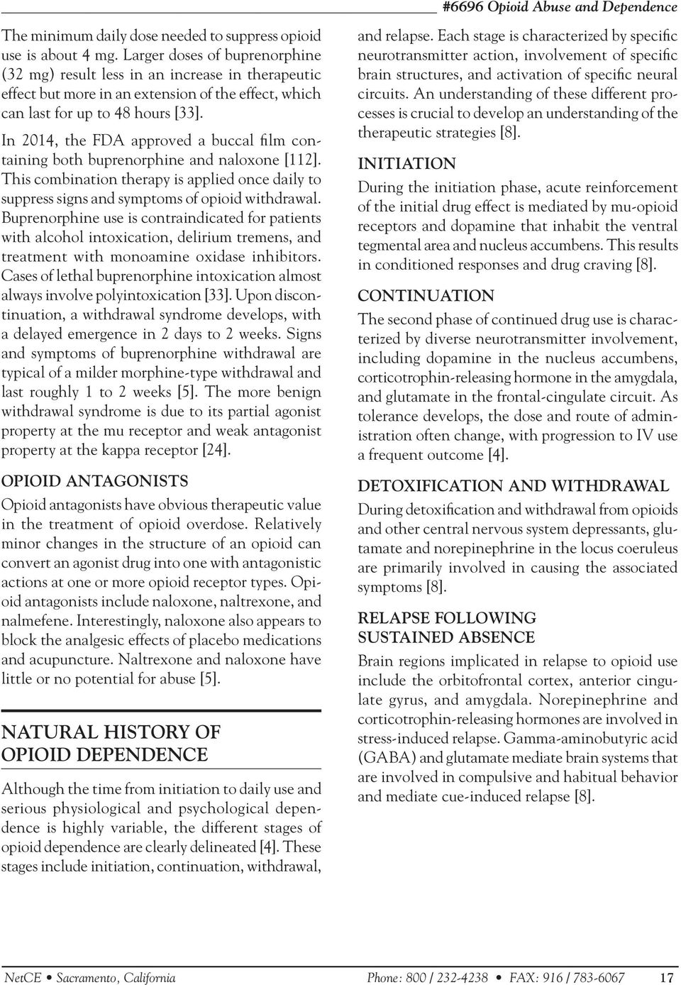 Opioid Abuse and Dependence - PDF