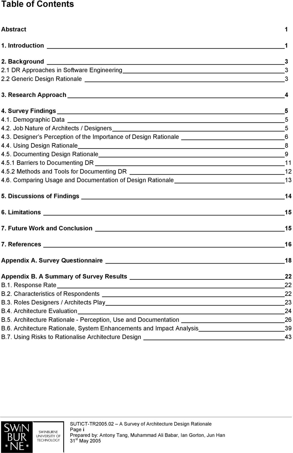 A Survey of Architecture Design Rationale - PDF
