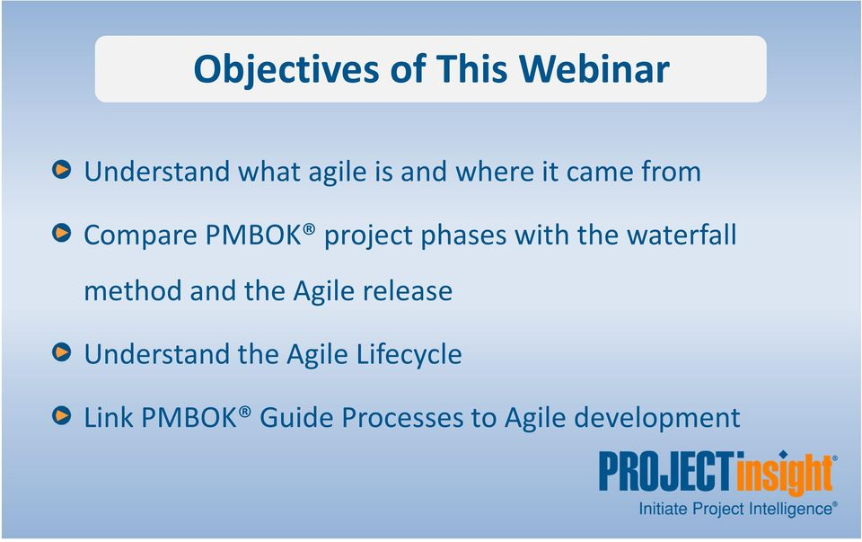 waterfall method and the Agile release Understand the