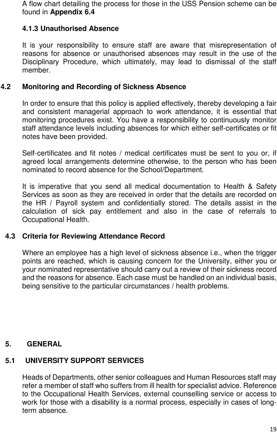 attendance management policy pdf