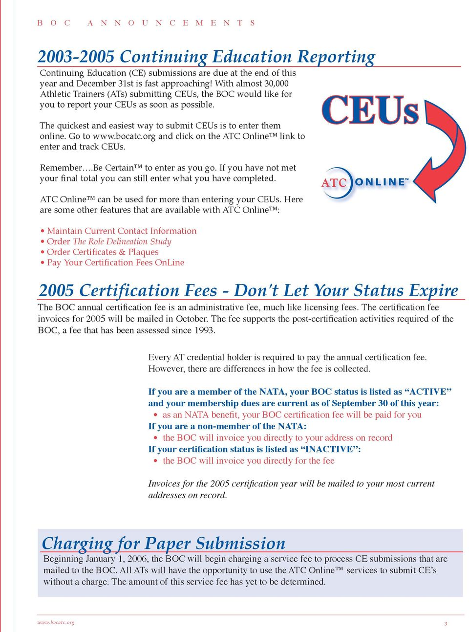 Go To And Click On The Atc Online Link To Enter And Track Ceu S Pdf