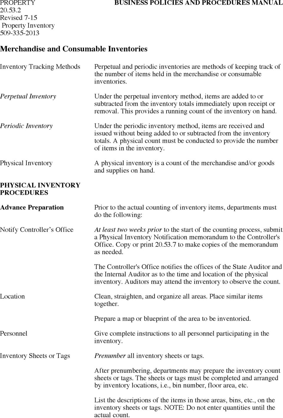 Merchandise And Consumable Inventories Pdf Free Download