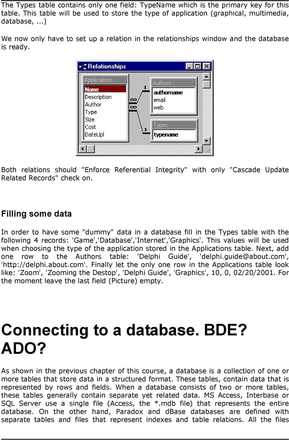 Using ADO from Delphi - PDF