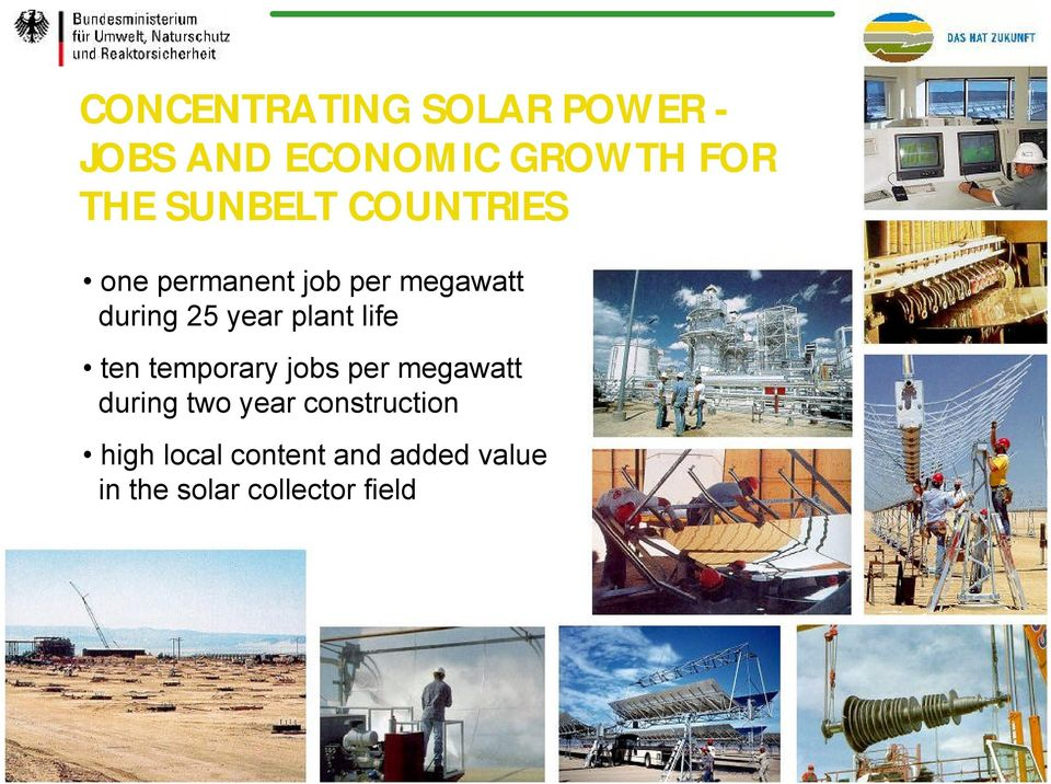 plant life ten temporary jobs per megawatt during two year