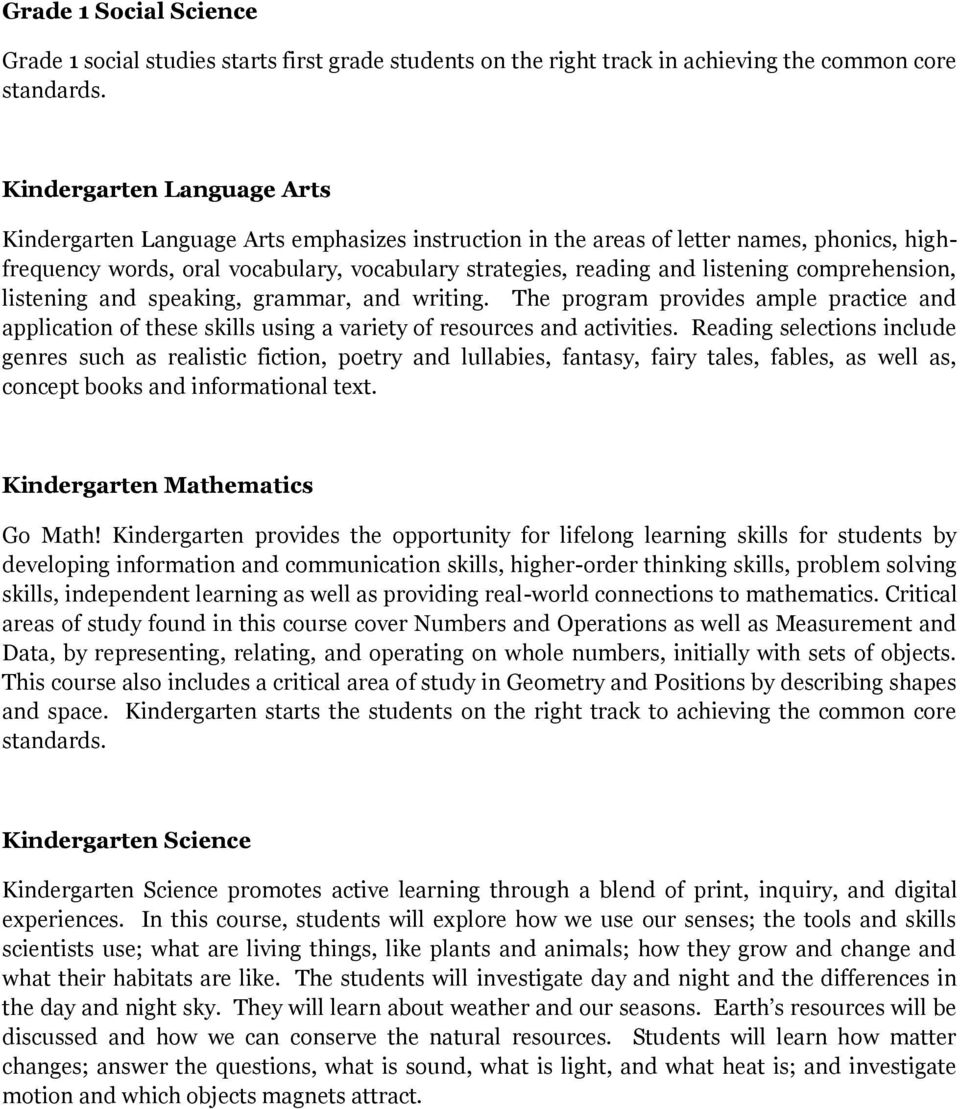 Elementary Courses Grade 5 Language Arts Pdf