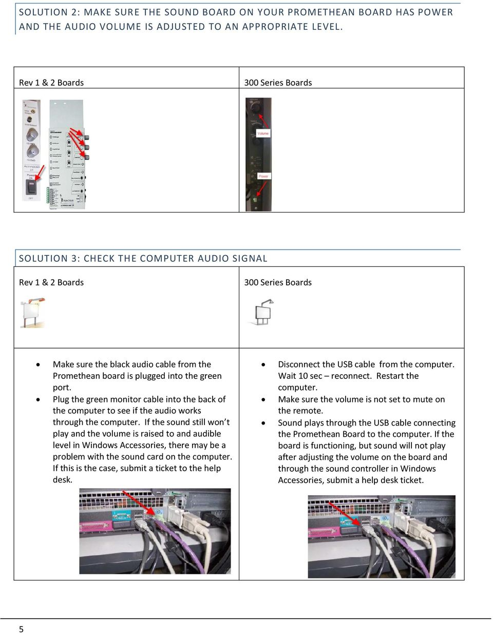 Promethean Trouble Shooting Tips V 20 A Quick Guide For The Most Wiring Board Port Plug Green Monitor Cable Into Back Of Computer To See If