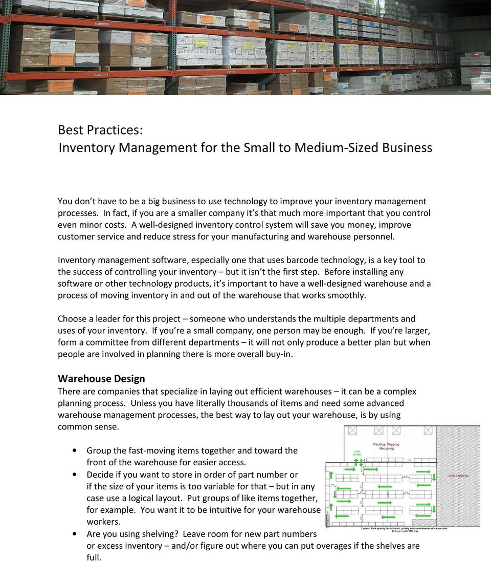 why is inventory control important