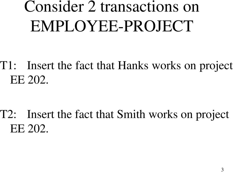 that Hanks works on project EE 202.