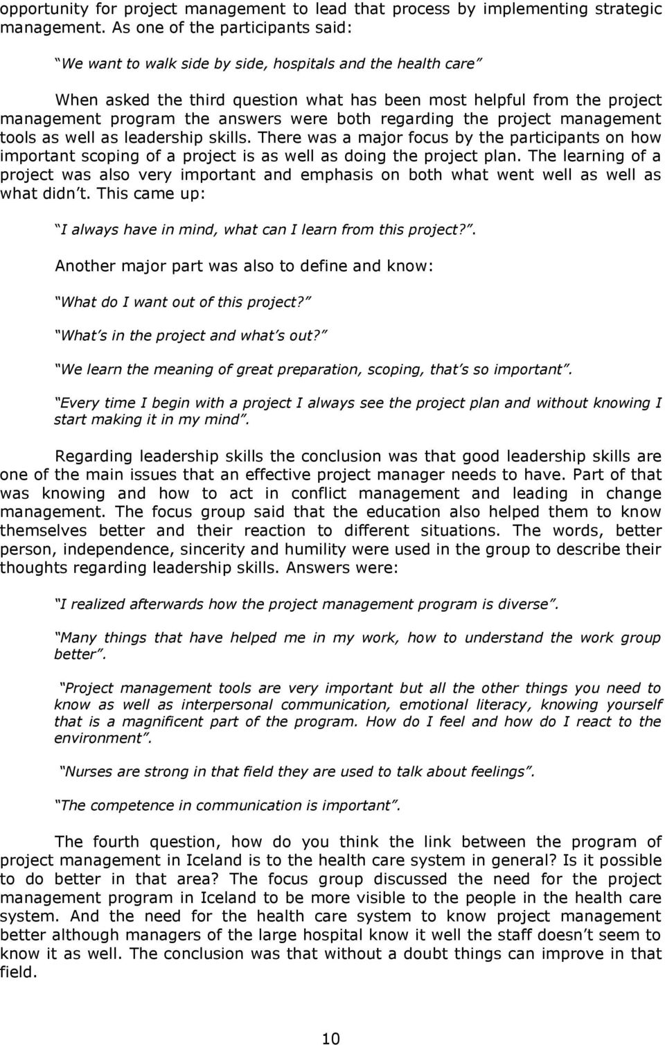 Is Project Management The Future Approach To Clinical Nursing Eln