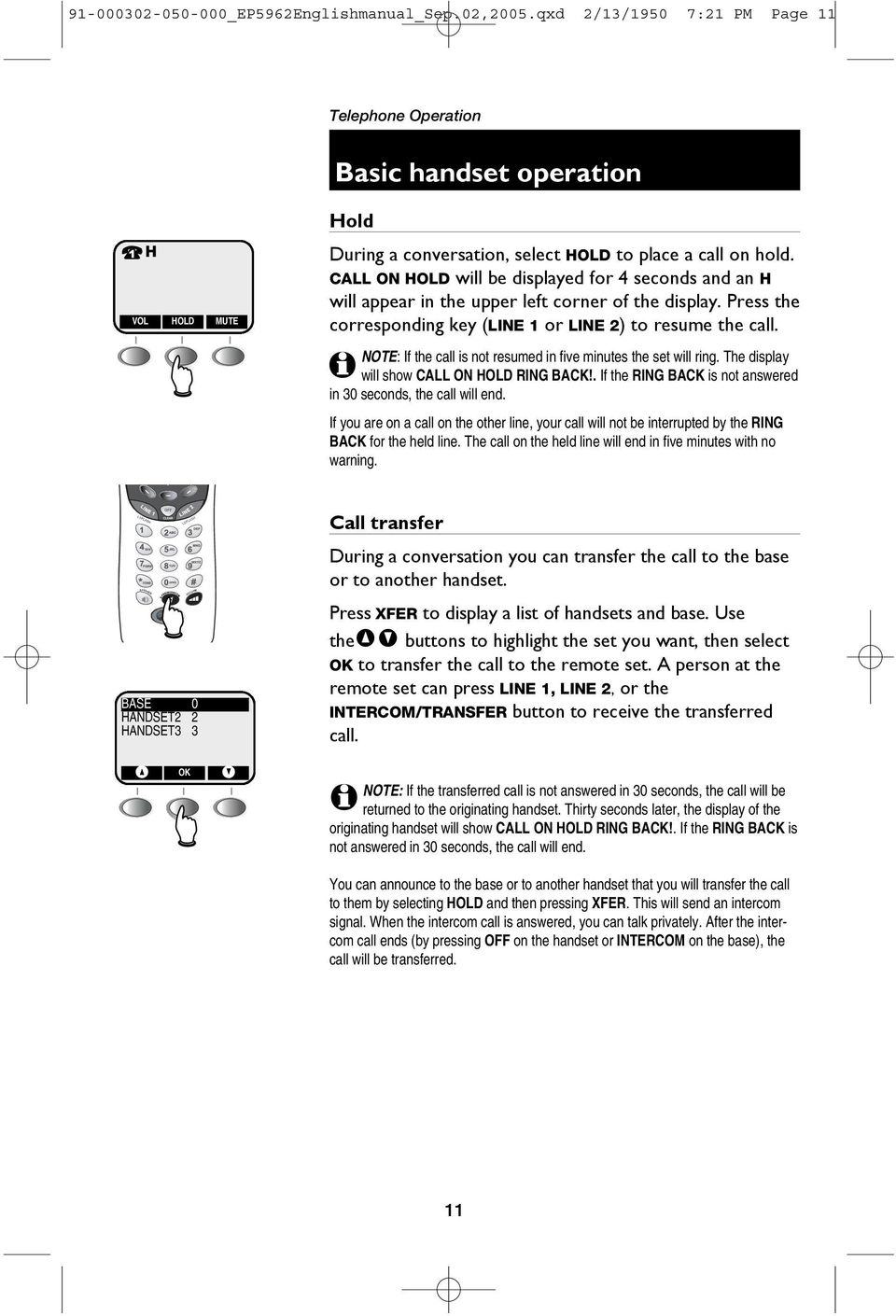 5 8 GHz 2-Line Corded/Cordless Answering System EP PDF