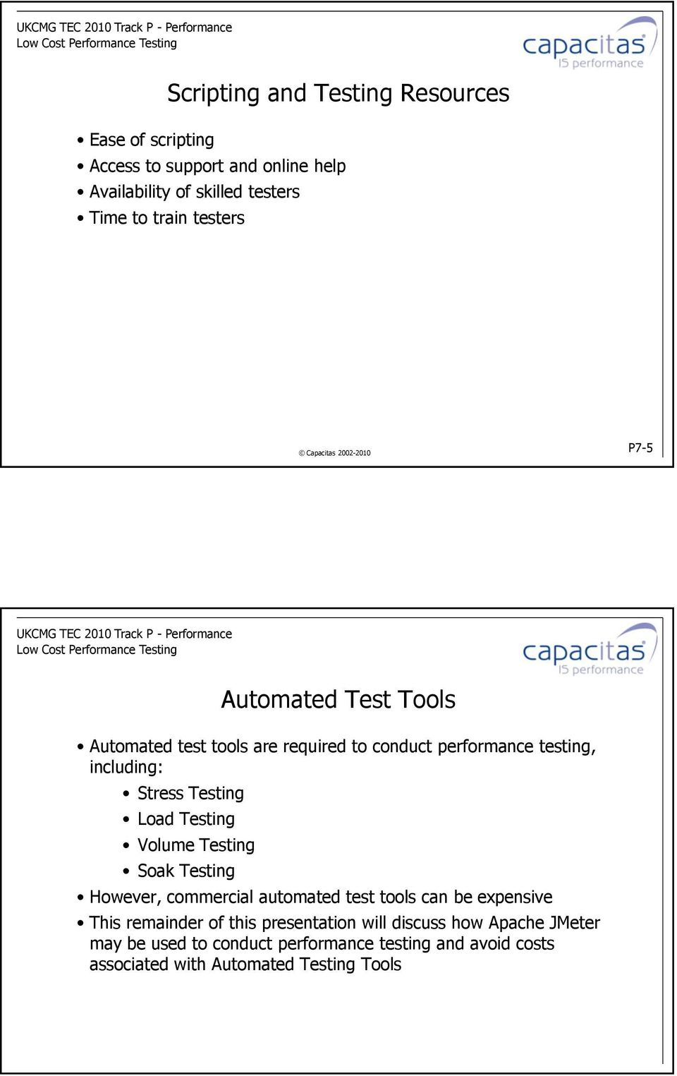 Load Testing Volume Testing Soak Testing However, commercial automated test tools can be expensive This remainder of this