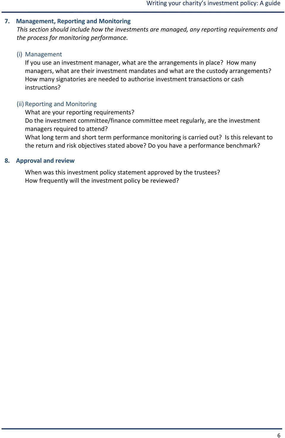 2a 7 investment guidelines for nonprofits