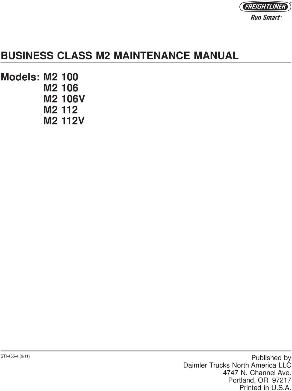 Freightliner M2 Electrical Diagram Pdf 208 Wiring Diagrams Hydrocollator Business Class Maintenance Manual