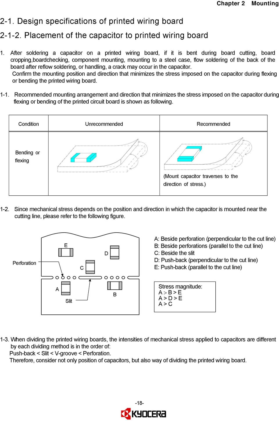 Safety Application Guide For Multilayer Ceramic Chip Capacitors Pdf Wiring In Series The Board After Reflow Soldering Or Handling A Crack May Occur Capacitor
