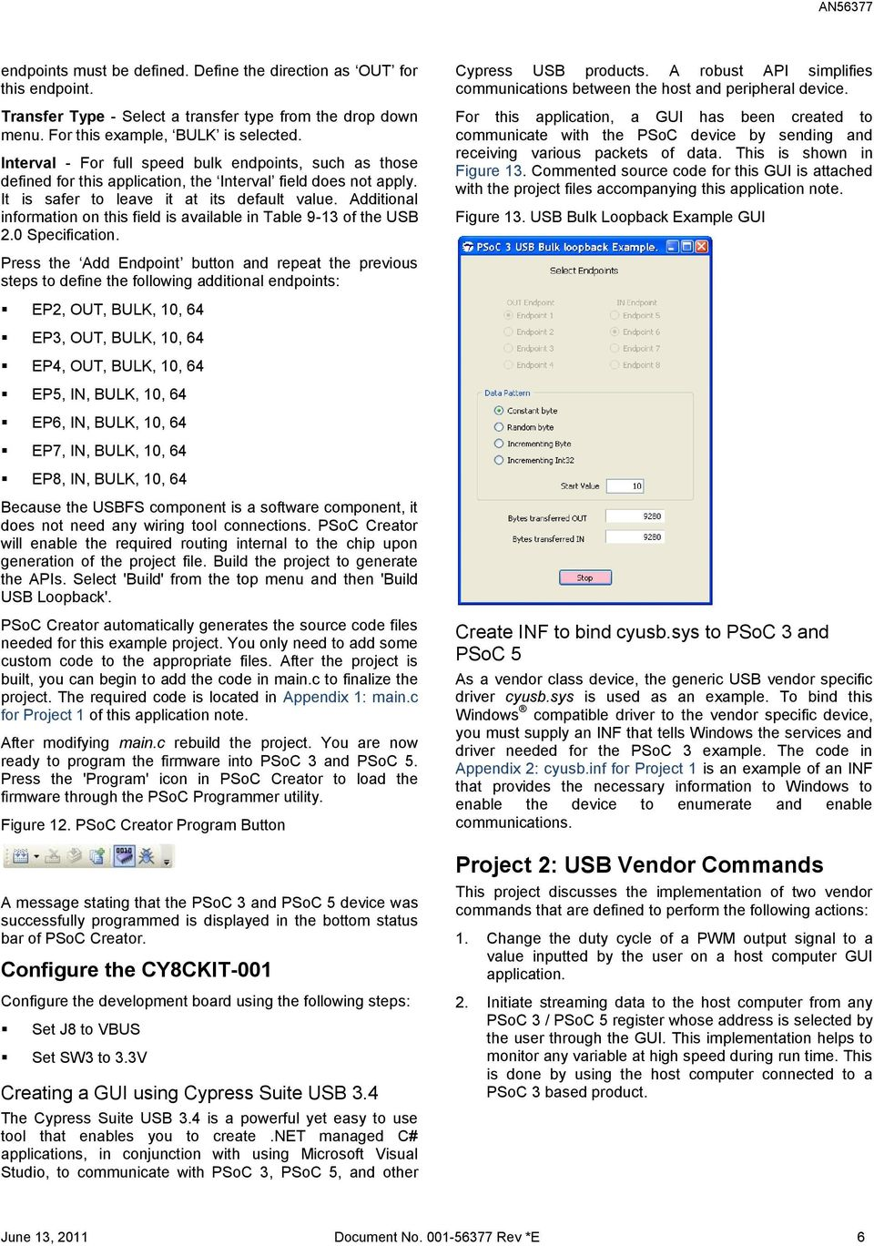 AN PSoC 3 / PSoC 5: USB Vendor-Specific Device  Application Note