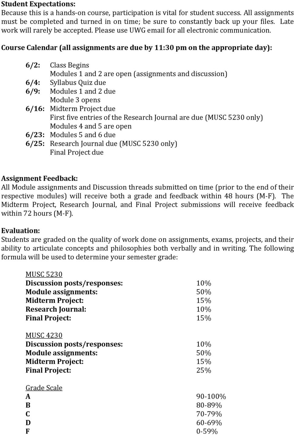 MUSC 4230, 5230 Technology in Music Education University of